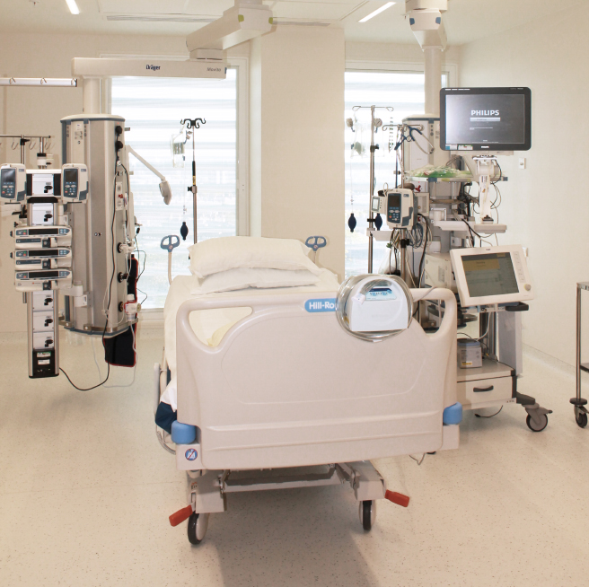 Bed in ICU