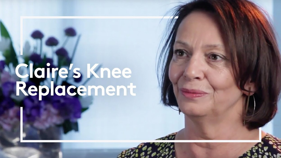 Claire's knee replacement video thumbnail